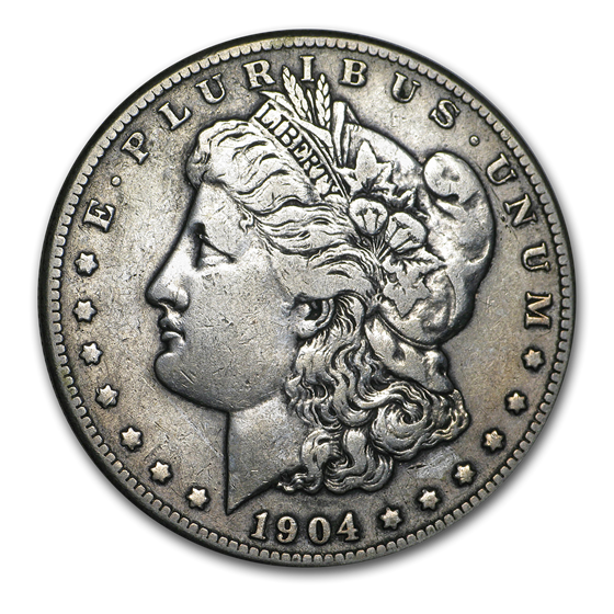 1904-S Morgan Dollar VF Details (Cleaned)