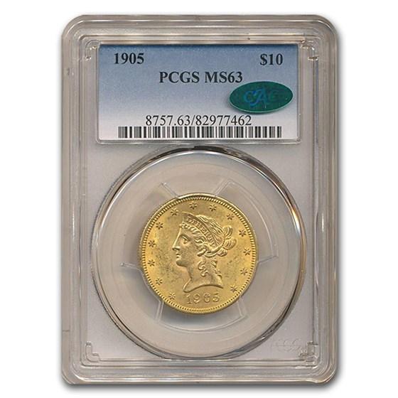 1905 $10 Liberty Gold Eagle MS-63 PCGS CAC