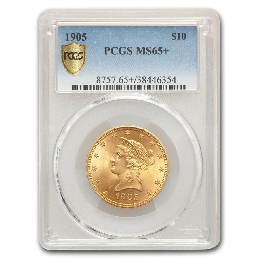 1905 $10 Liberty Gold Eagle MS-65+ PCGS
