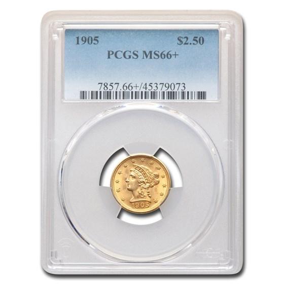 1905 $2.50 Liberty Gold Quarter Eagle MS-66+ PCGS