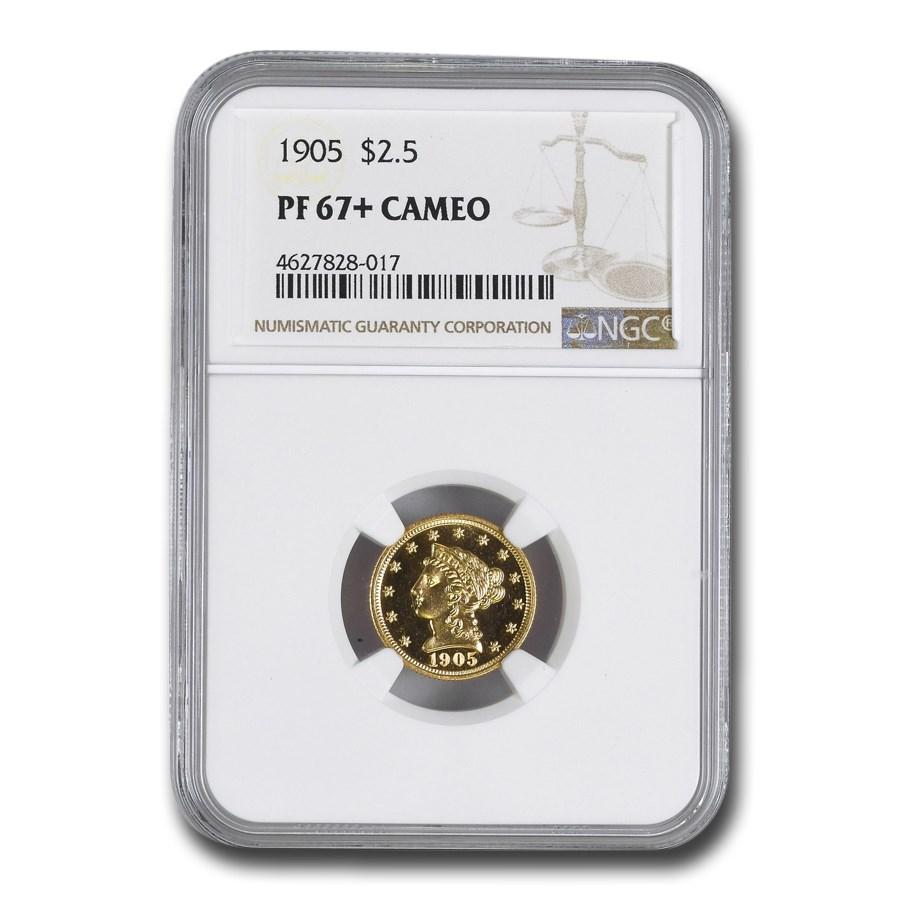 1905 $2.50 Liberty Gold Quarter Eagle PF-67+ Cameo NGC