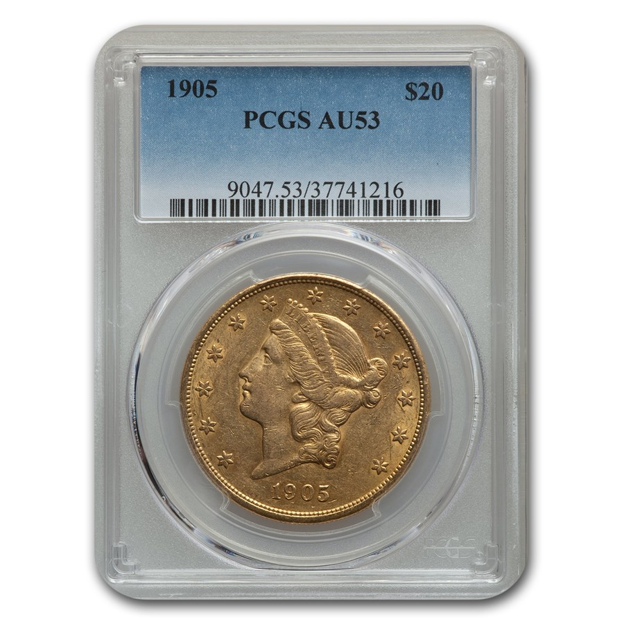1905 $20 Liberty Gold Double Eagle AU-53 PCGS