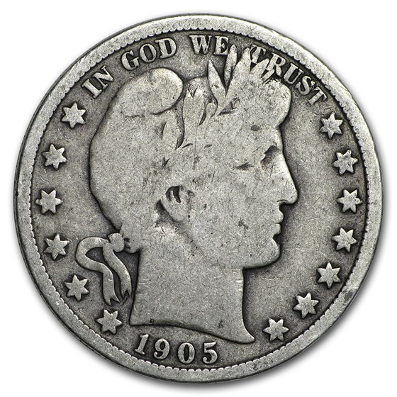 1905 Barber Half Dollar VG