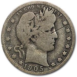 1905 Barber Quarter VG (Details)