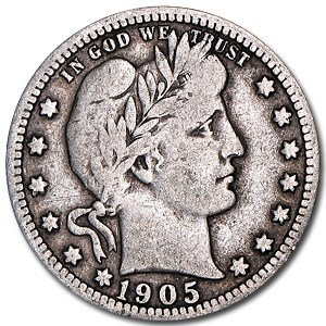 1905 Barber Quarter VG