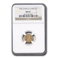 1905 Gold $1.00 Lewis & Clark MS-64 NGC