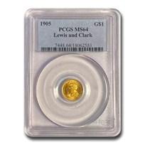 1905 Gold $1.00 Lewis & Clark MS-64 PCGS