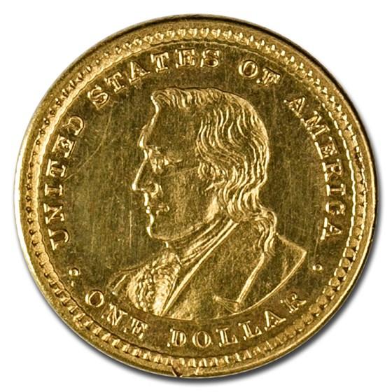 1905 Gold $1.00 Lewis & Clark XF Details (Ex-Jewelry)