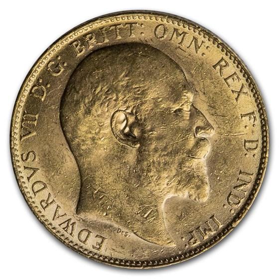 1905 Great Britain Gold Sovereign Edward VII BU