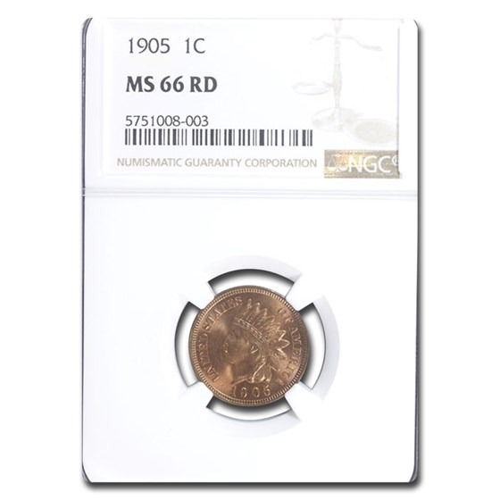 1905 Indian Head Cent MS-66 NGC (Red)