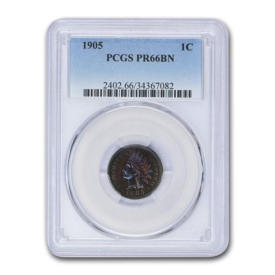 1905 Indian Head Cent PR-66 PCGS (Brown)