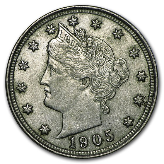 1905 Liberty Head V Nickel AU