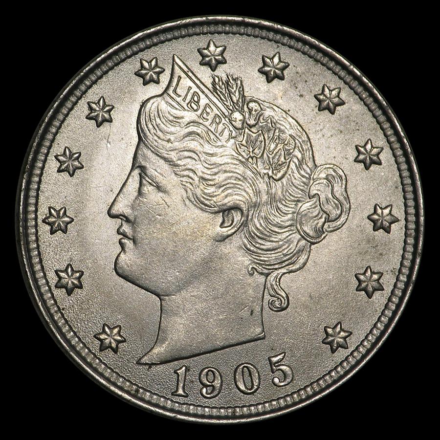 1905 Liberty Head V Nickel BU