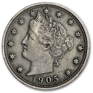 1905 Liberty Head V Nickel Good+