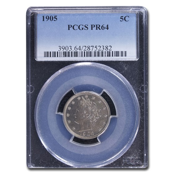 1905 Liberty Head V Nickel PR-64 PCGS