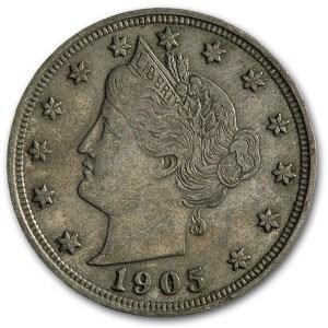 1905 Liberty Head V Nickel XF