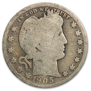 1905-O Barber Quarter AG