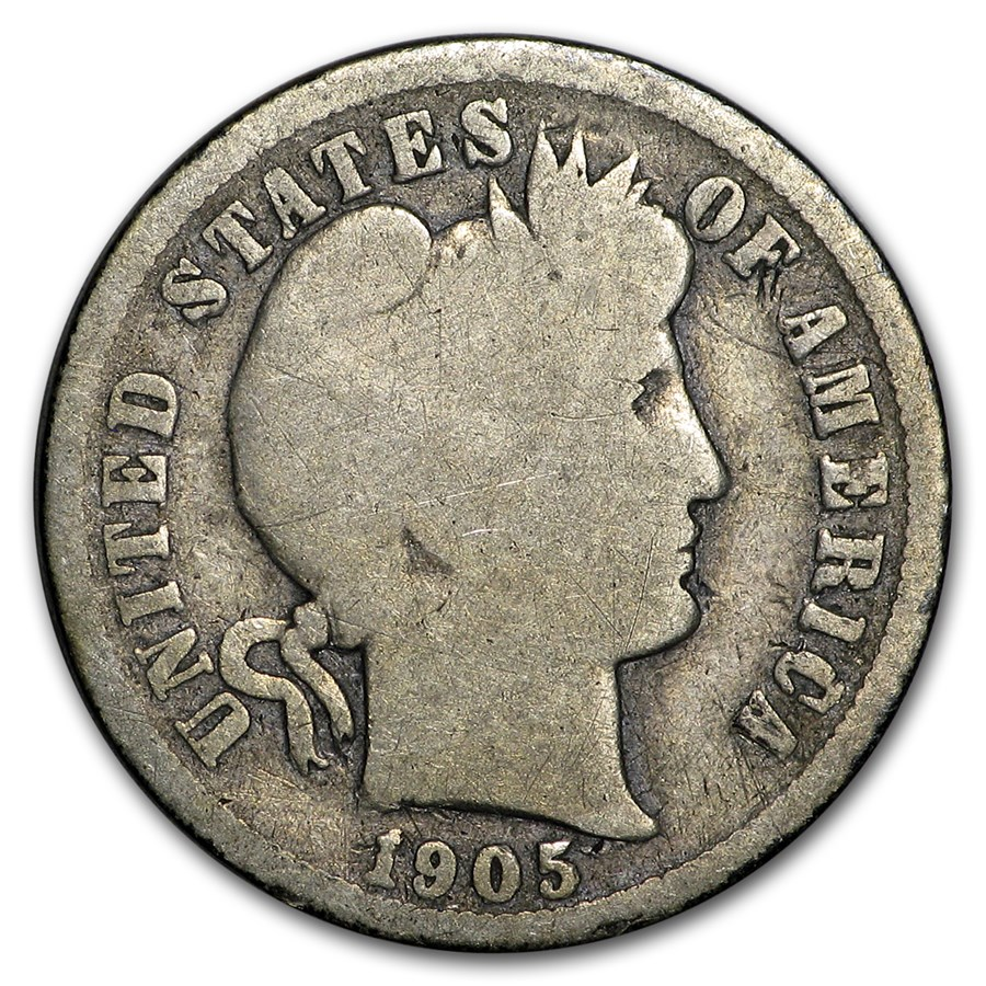 1905-O Micro O Barber Dime Good