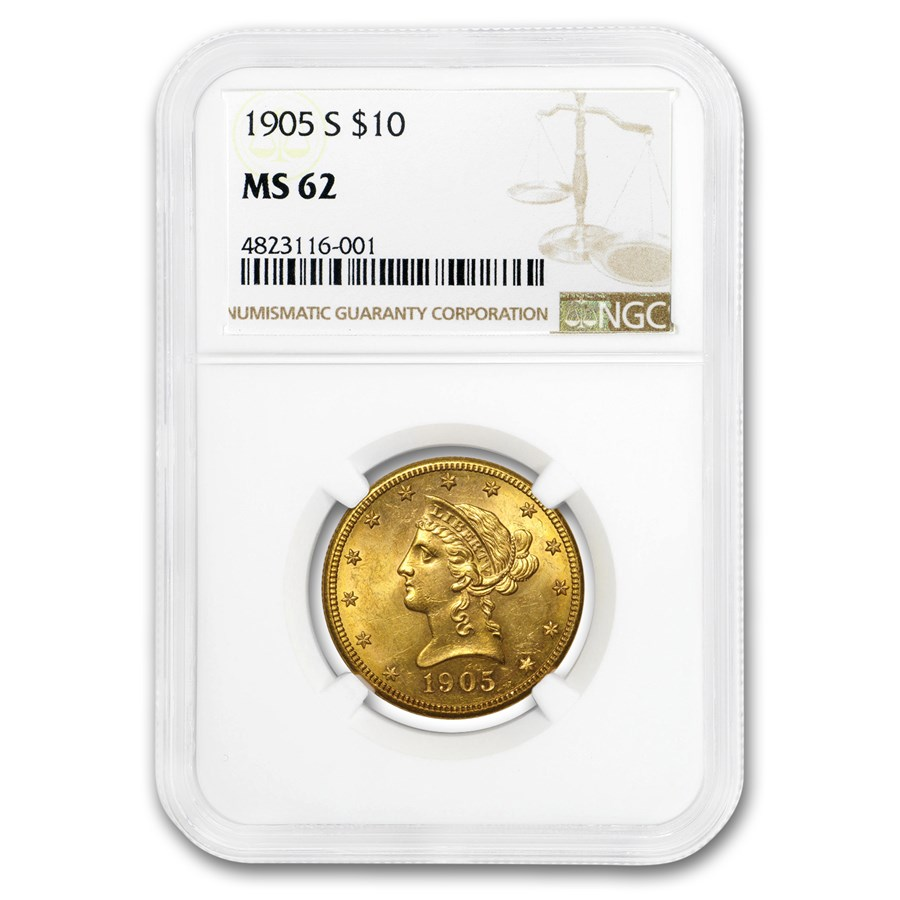 1905-S $10 Liberty Gold Eagle MS-62 NGC