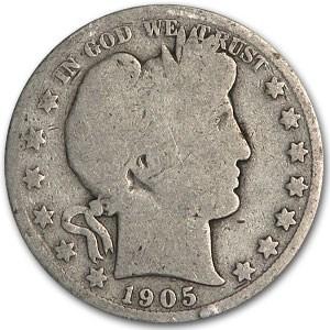1905-S Barber Half Dollar AG