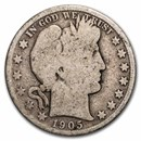 1905-S Barber Half Dollar Good