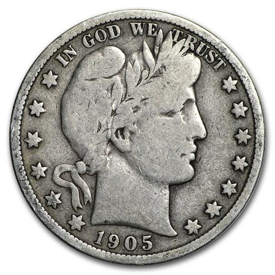 1905-S Barber Half Dollar VG