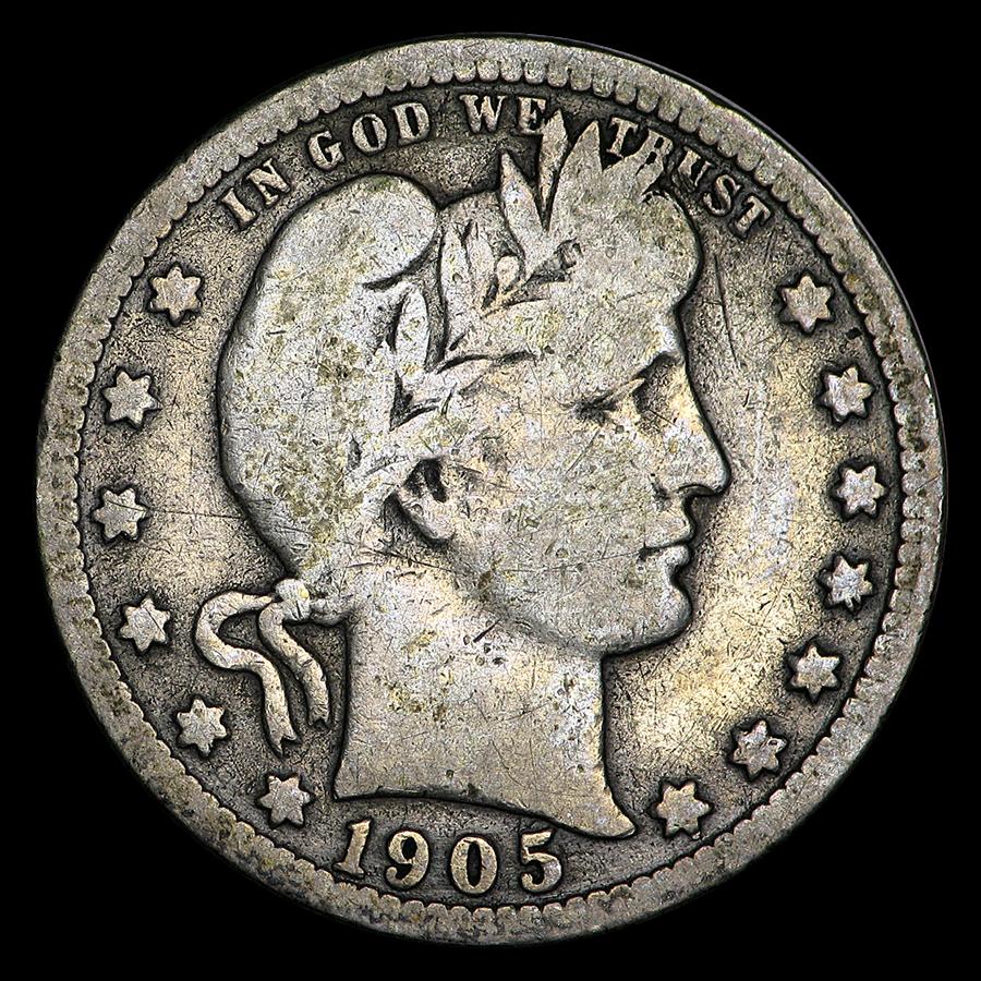 1905-S Barber Quarter VG