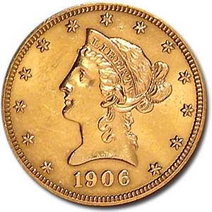 1906 $10 Liberty Gold Eagle AU