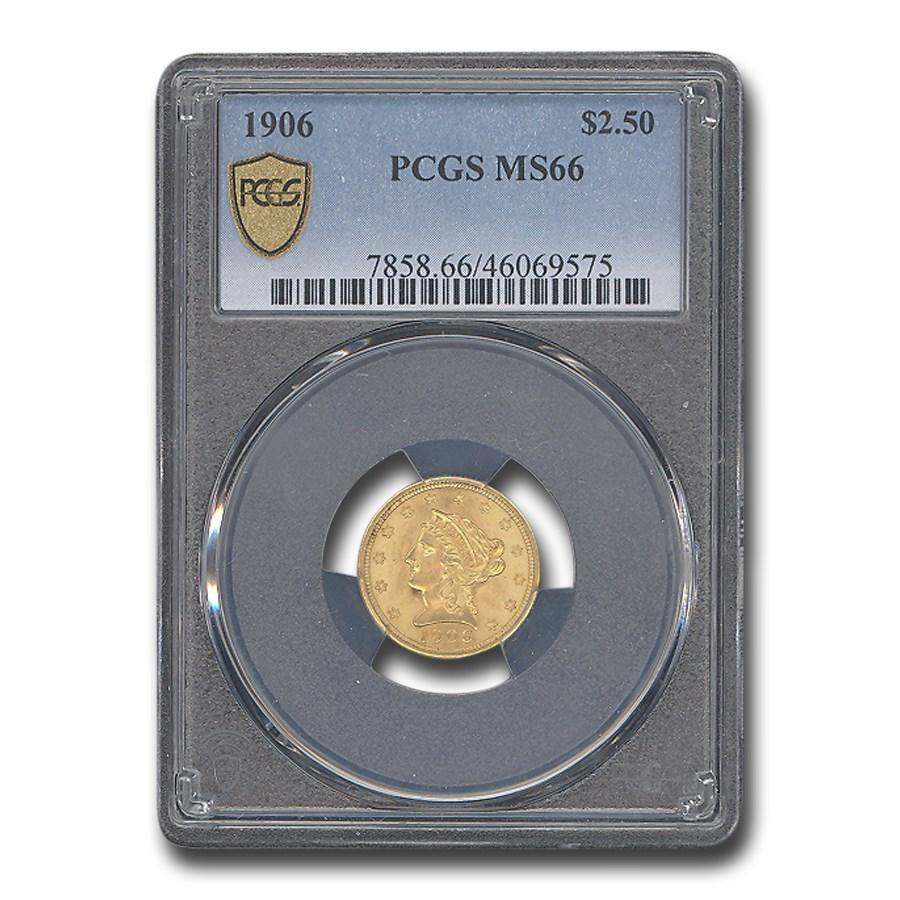 1906 $2.50 Liberty Gold Quarter Eagle MS-66 PCGS
