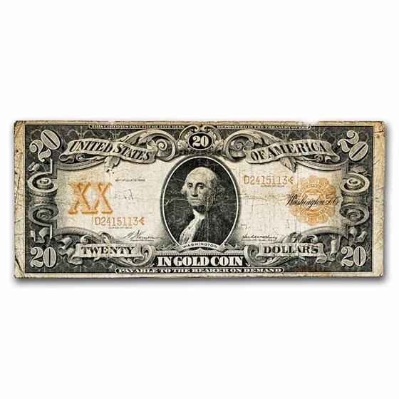 1906 $20 Gold Certificate Cull