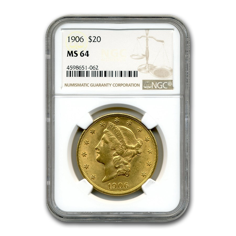 1906 $20 Liberty Gold Double Eagle MS-64 NGC