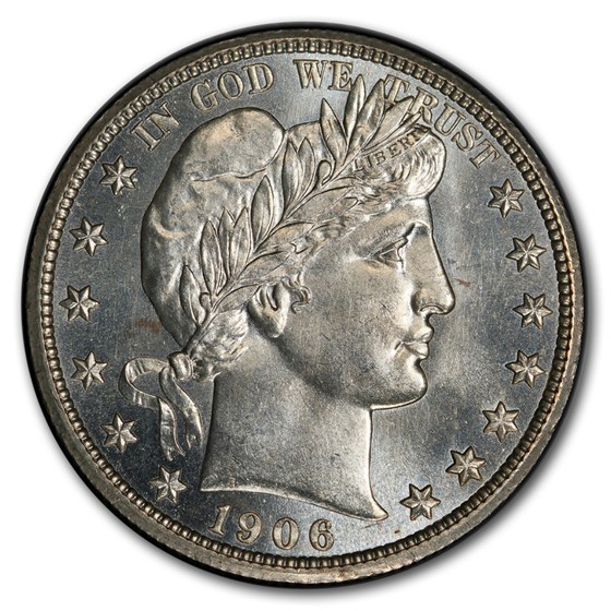 1906 Barber Half Dollar MS-64 PCGS (PL)