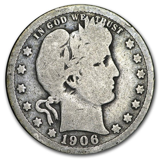 1906 Barber Quarter Good/VG