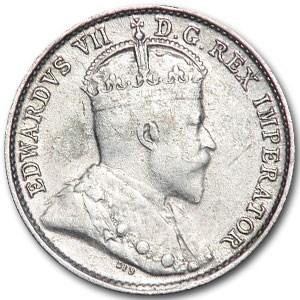 1906 Canada 5 Cents Silver XF KM#13 Edward VII