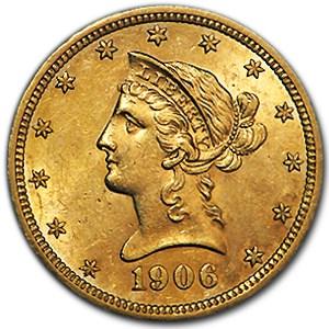 1906-D $10 Liberty Gold Eagle AU