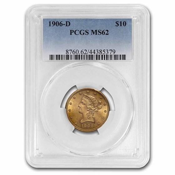1906-D $10 Liberty Gold Eagle MS-62 PCGS
