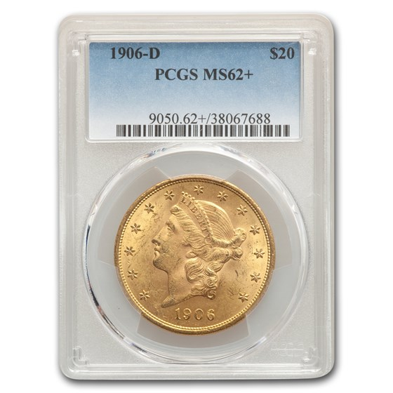 1906-D $20 Liberty Gold Double Eagle MS-62+ PCGS