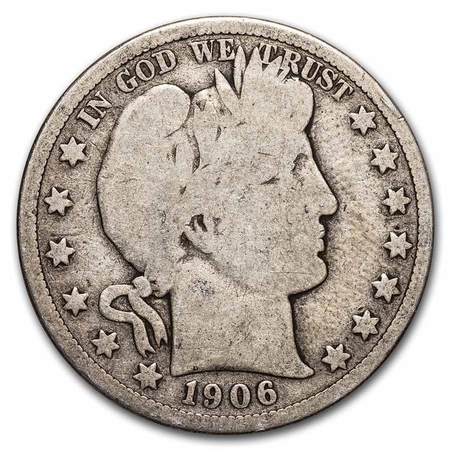 1906-D Barber Half Dollar Good