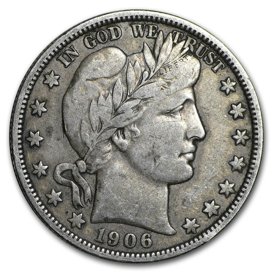 1906-D Barber Half Dollar VF