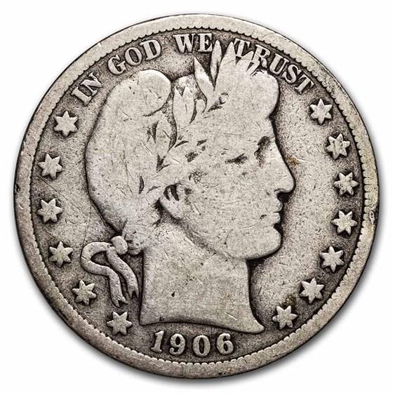 1906-D Barber Half Dollar VG