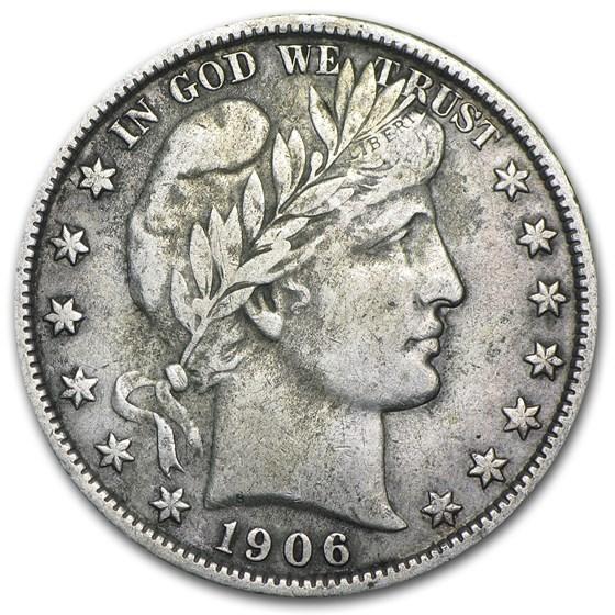1906-D Barber Half Dollar XF