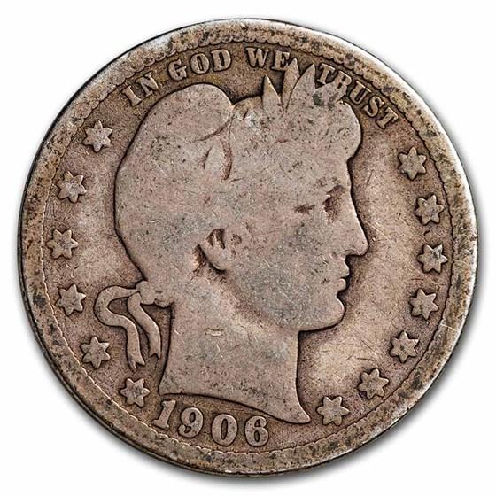 1906-D Barber Quarter Good/VG