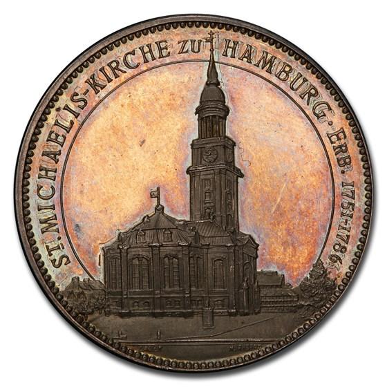 1906 German States Hamburg AR Medal SP-64 PCGS
