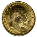 1906 Great Britain Gold Sovereign Edward VII BU