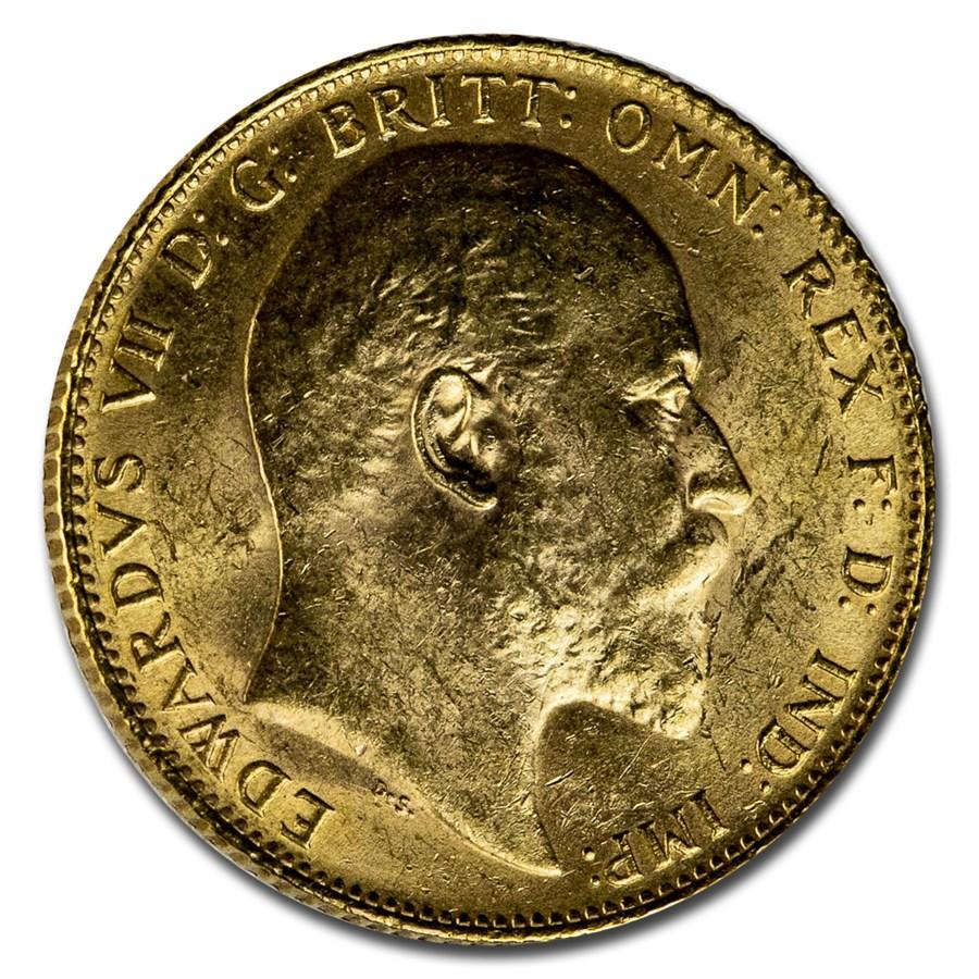 1906 Great Britain Gold Sovereign Edward VII BU