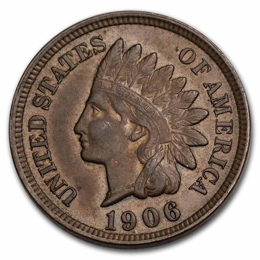 1906 Indian Head Cent AU