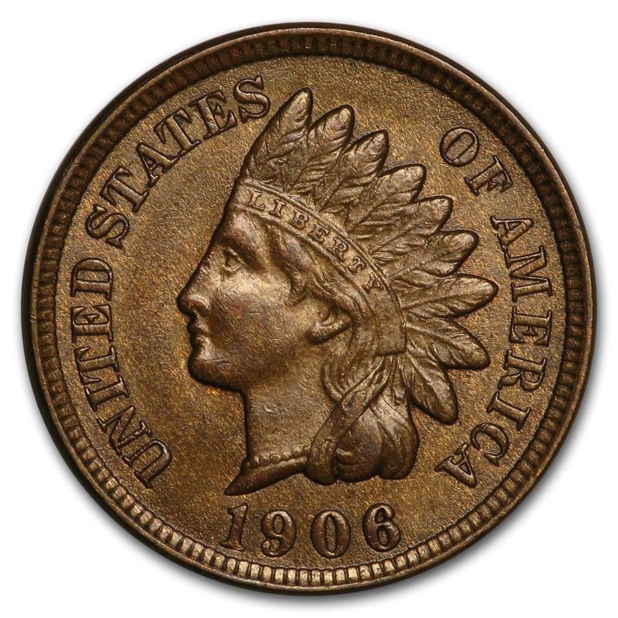 1906 Indian Head Cent BU (Brown)