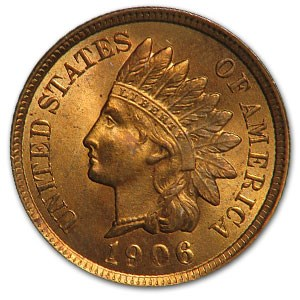 1906 Indian Head Cent BU (Red)