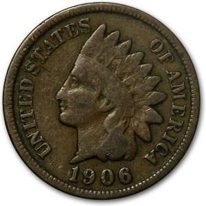 1906 Indian Head Cent Good+