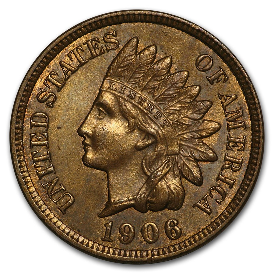 1906 Indian Head Cent MS-63 (Brown)